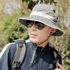 Men Summer Foldable Fishing Hat Fashion Cotton Visor Hat