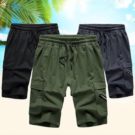 Mens Summer Casual Beach Shorts Pocket Cargo Shorts