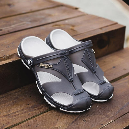Mens Casual Summer Beach Shoes Slippers Hollow-out Sandals