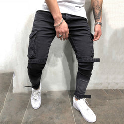 Men Casual Pocket Tight Pants