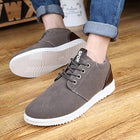 Mens Low Top Lace-up Casual Flat Shoes