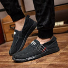 Mens Casual Slip-on Loafers Canvas Flats Shoes