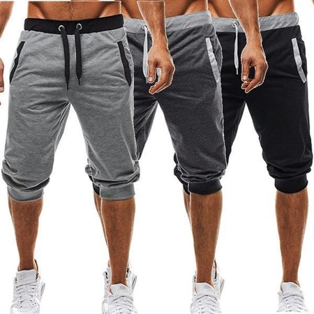 Mens Harem Pants Slacks Shorts Sport Sweatpants Trousers