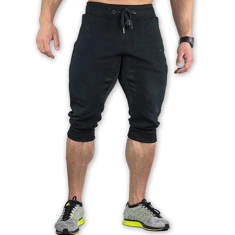 Mens Elastic Waist Drawstring Slacks Shorts Sweatpants Sport Trousers