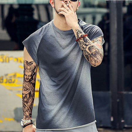 Men's Gradient Round Neck T-Shirts