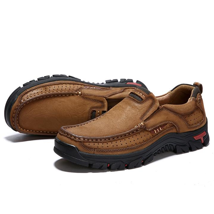 Men Casual Outdoor Slip-on Genuine Leather Oxfords