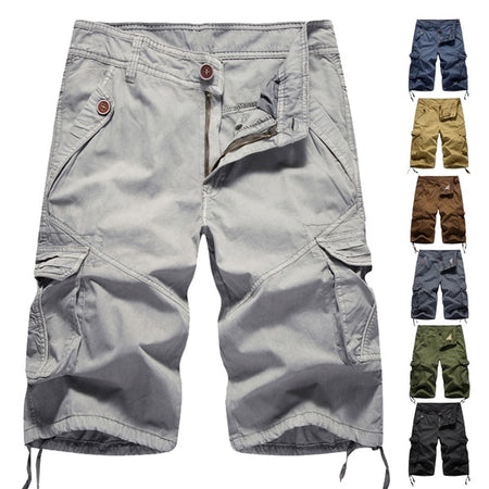 Men's Casual Comfortable Solid Color Shorts