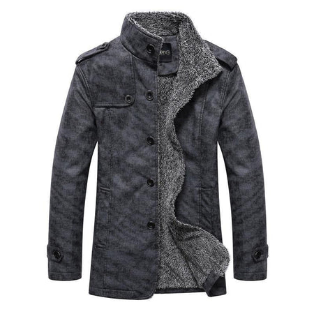 Winter Plain Lapel Collar Floss Padded Coat