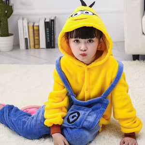 Child Romper Yellow Man Costume for Kids Onesie Pajamas for Girls Boys