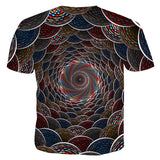 Mens 3D Printing T Shirt Volution Pattern Shirt
