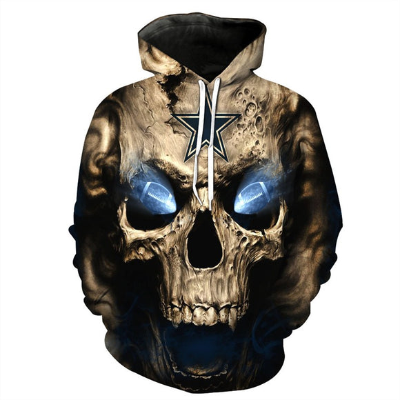 Mens's Halloween Horror Hoodies Skull Pattern 3D Graphic Printed Sweatshirts