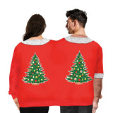 Couple Wear Lovers Men Women Connected Red Hoodies Spoof Christmas Sweatshirts