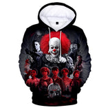 3D Printed Sweatshirt Halloween Horror Movie Hoodies