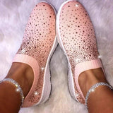 2019 New Crystal Sizzle Sneakers Women Shoes Bling Bling Latest Shoes for Lady