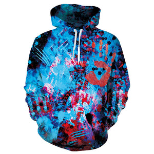 Mens Hoodies 3D Printed Hands Printing Hoodies