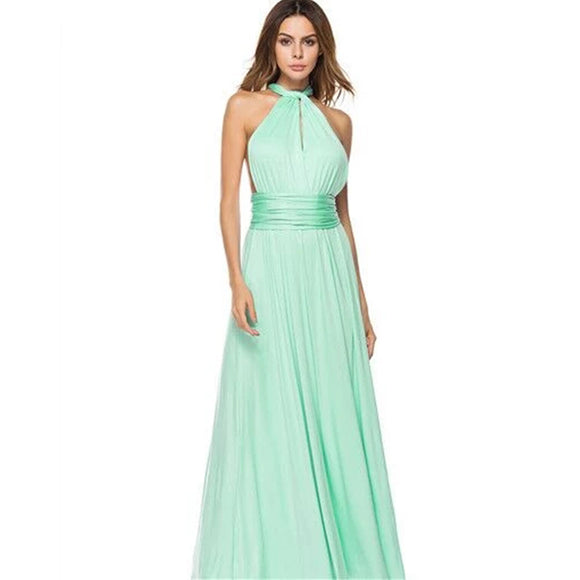 Bridesmaid Multiway Dresses Wedding Party Light Green Color