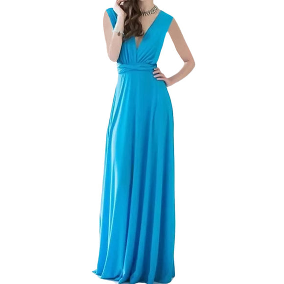 Bridesmaid Multiway Dresses Wedding Evening Party Blue Color