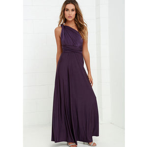 Bridesmaid Multiway Dresses Wedding Evening Party Purple Dress