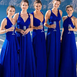 Bridesmaid Multiway Dresses Wedding Party Blue Color