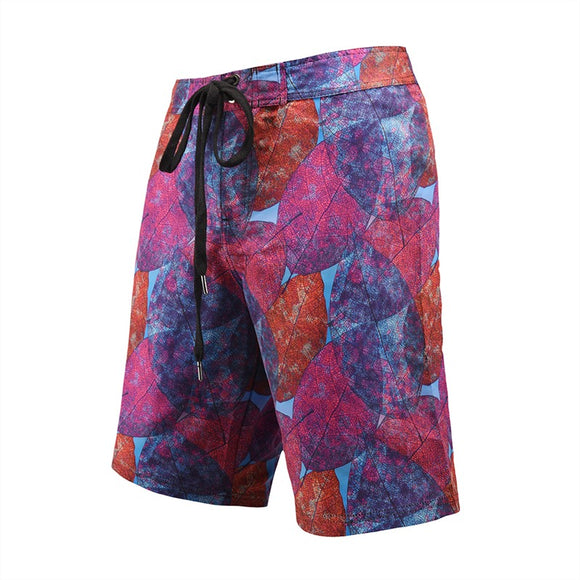 Men's Beach Board Shorts Art Leaf Pattern Swimming Pants