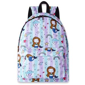 Girls Backpacks for School Kids Cute Girl Printed Bookbags