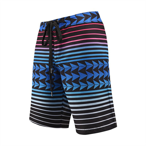 Men's Beach Board Shorts Stripe Pattern Swimming Pants
