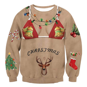 Ugly Shirt with Underwear Shirts Christmas Pullover