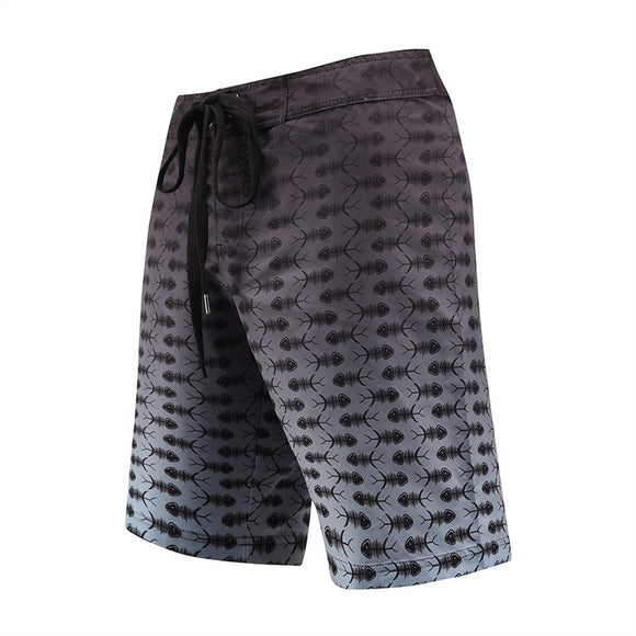 Men's Beach Board Shorts Fish Bone Swimming Pants