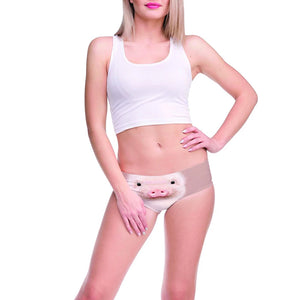 Womens Underwear 3D Printing Pig Pattern Briefs