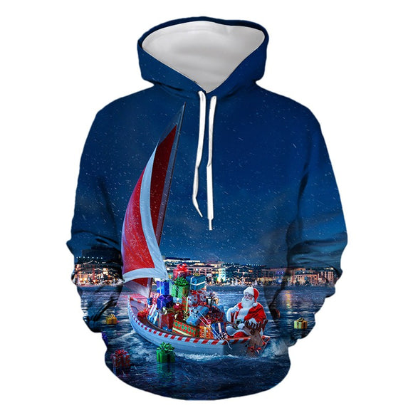 Mens Hoodies 3D Graphic Printed Christmas Gifts Pullover