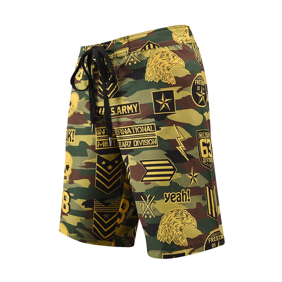 Men's Beach Board Shorts America Pattern Swimming Pants