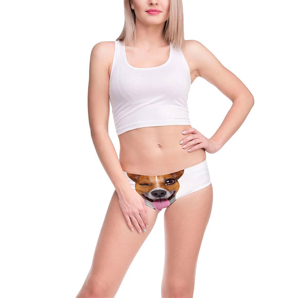 Womens Underwear 3D Printing Cute Dog Pattern Briefs
