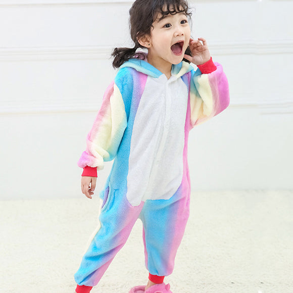 Child Romper Cute Tianma Pattern Costume for Kids Onesie Pajamas for Girls Boys