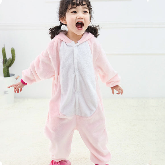 Child Romper Pink Horse Costume for Kids Onesie Pajamas for Girls Boys