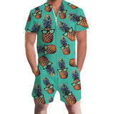 Men's Rompers Glass Pineapple Jumpsuit