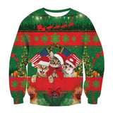 Ugly Christmas Sweatshirt Long Sleeve Sweater Shirt Xmas Gift