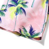 Men's Beach Board Shorts Tropical Floral Pattern Pink Color Swimming Pants