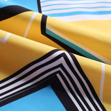 Men's Beach Board Shorts Geometric Patterns Yellow Swimming Pants