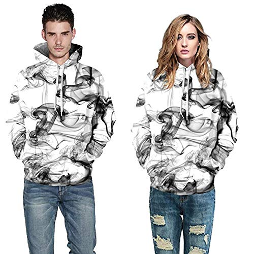 Mens Hoodies 3D Printing Realistic Digital Printed Pattern Hooded