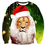 Ugly Christmas Shirt Lion Face Pullover