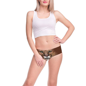 Womens Underwear 3D Printing Tiger Pattern Briefs