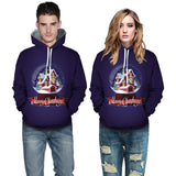 Mens Hoodies 3D Graphic Printed Christmas House Pullover
