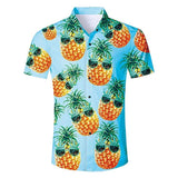 Mens 3D Printing Blouse Lovely Pineapple Printed Shirt