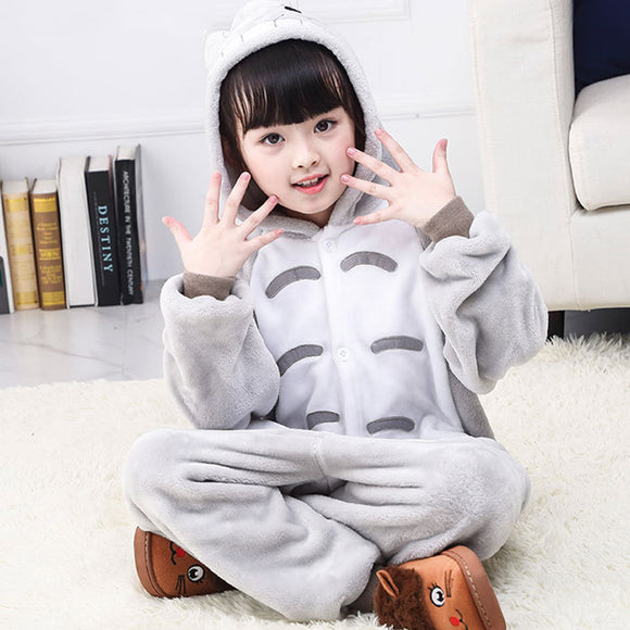 Child Romper Cute Totoro Costume for Kids Onesie Pajamas for Girls Boys