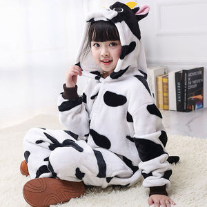 Child Romper Cute Cow Costume for Kids Onesie Pajamas for Girls Boys