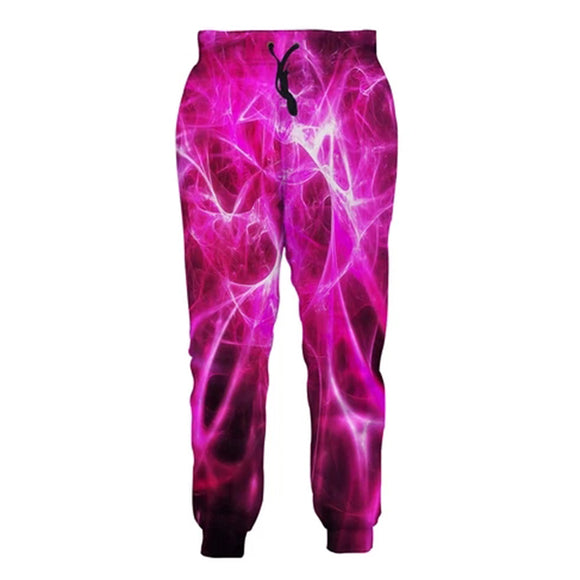 Mens Jogger Pants 3D Printing Funny Galaxy Pattern Trousers