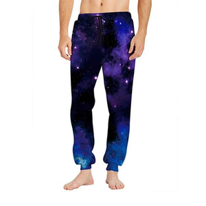 Mens Jogger Pants 3D Printing Galaxy Cosmic Pattern Trousers