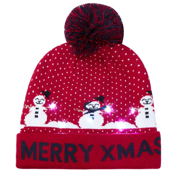 2019 Funny Party Hat Merry Xmas Beanie Cap Christmas Sweater Ugly Holiday Hats Xmas Gift