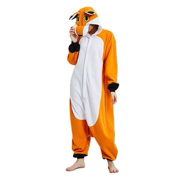 Fox Animal Costume for Teen Halloween Cosplay Onesie Pajamas for Women