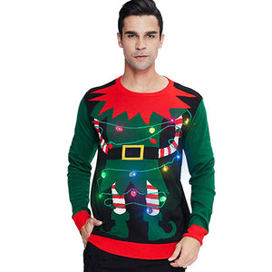 Women Men's Light Up Ugly Christmas Sweater